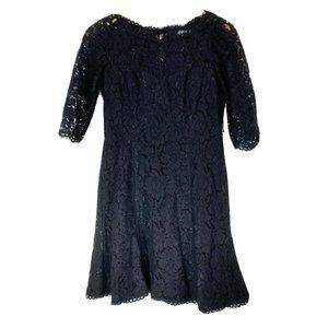 Eliza J 10P Dress Cocktail Black Floral Lace
